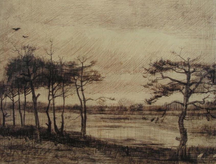 van Gogh tekening Kamerven